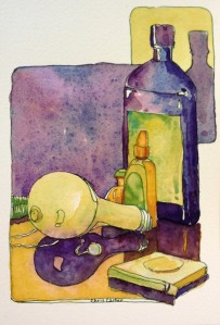 Cluttered-dresser-ink-watercolor-sketchbook-drawings-chris-carter-artist-071713-web
